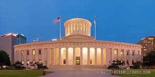 Ohio travel state images Ohio state capitol building in columbus ohio at dusk have jpg