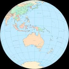 Australian World Map by Australia And Oceania On The World Map Australia And Oceania
