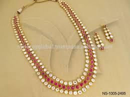 long necklace sets images Modern kundan 3 line long necklace set wholesale artificial jpg