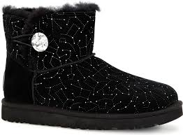 womens black boots australia ugg australia s mini bailey button bling constellation