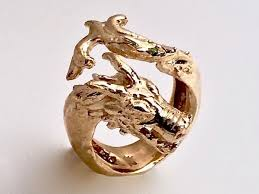 dragon rings gold images Dragon head ring wave tail stephany hitchcock designs jpg