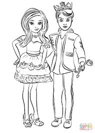 descendants ben and mal coloring page free printable coloring pages