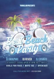 free beach party flyer psd template http freepsdflyer com free