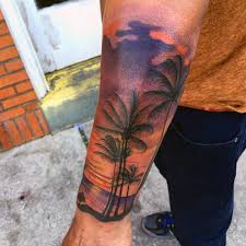 90 sunset tattoos for fading daylight sky designs