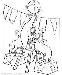 circus animal coloring pages printable performing trained