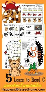 5 free worksheets for preschool alphabet letter c happy and