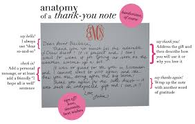 the preppy diaries anatomy of a thank you note