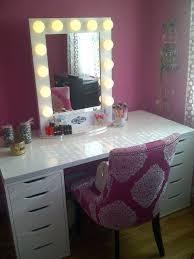 Pink Vanity Table Vanity Makeup Table Set Bemine Co