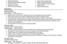 Personal Training Resume Sample by Trainer Resume Sample Resume Template Personal Trainer Resume