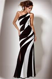 black and white dresses unique black and white prom dress