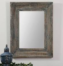 Mirrors For Walls by Amazon Com Aged Teal Blue Green Wall Mirror Wood Cottage Vanity