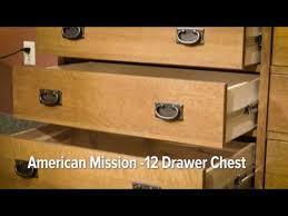 Mission Style File Cabinet American Mission Ii 12 Drawer Dresser Hom Furniture