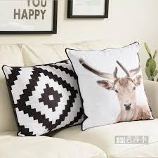 nordic animal cushion velvet cushion cover geometric cushion bed