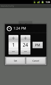 timepicker android android development news exle tutorial source code time