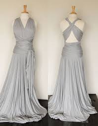light grey infinity dress reserve listing for erica floor length in royal blue convertible