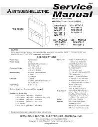 download free pdf for mitsubishi ws 55613 tv manual