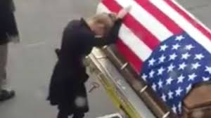 Raleigh Flag A Heartbreaking Reunion Young Widow Meets Army Husband U0027s Coffin