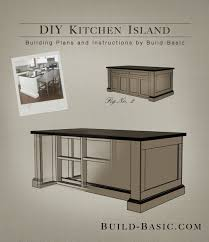 kitchen island plans diy build a diy kitchen island build basic