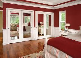 mirror closet doors for bedrooms reflections mirror by pass closet doors traditional bedroom