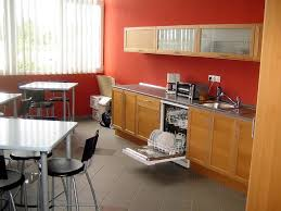 agreeable modular kitchen design ideas with l shape and white red