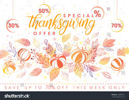thanksgiving special offer bannerhand lettering stock vector