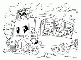 cartoon bus coloring page for kids back to coloring
