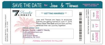 boarding pass save the date boarding pass 2 sided with photo background custom passport