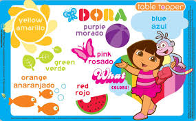 neat solutions 50 ct dora the explorer table topper disposable