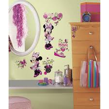 35 minnie mouse wall decal minnie mouse wall decals mousketeers mickey and friends minnie fashionista wall decal by room mates