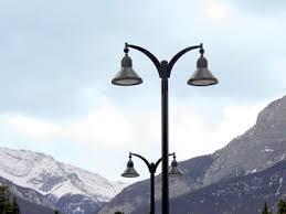decorative street light poles outdoor led lights antique street ls acuity brands