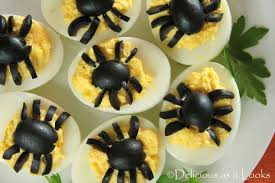 delicious as it looks halloween spooky spider deviled eggs