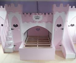 children u0027s princess castle bunk bed with slide stairs u0026 wardrobes