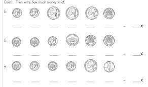 bunch ideas of counting money worksheets 1st grade with form