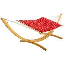 Hammock With Wood Stand Hatteras Hammocks Classic Red Stripe Pillowtop Hammock Dfohome
