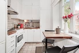 kitchen gray sofa mustard inlet white cabinetry scandinavian