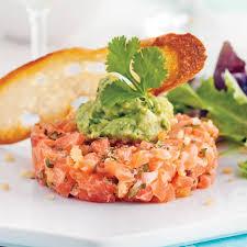 mod e cuisine ancienne tartare de saumon épicé et guacamole recettes cuisine et