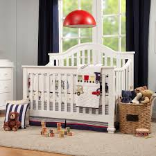 Convertible Crib White by Clover 4 In 1 Convertible Crib