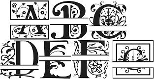 monogrammed fonts split monogram fonts spectrum forum