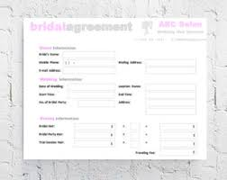 wedding contracts for makeup artists bridal contract etsy