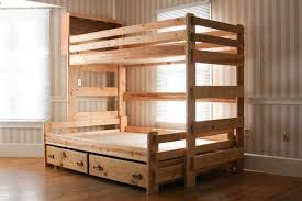 Wood Twin Loft Bed Plans by Brilliant Twin Over Full Bunk Bed Plans With Amazing Wood Bunk