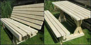 Plans For Picnic Table That Converts To Benches by Build A 2 In 1 Picnic Table And Bench Diy Projects For Everyone