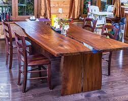Living Edge Dining Table by Live Edge Table Etsy