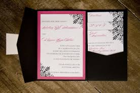 pocket folds wedding pocket fold all the inserts were stacked in a pocket to