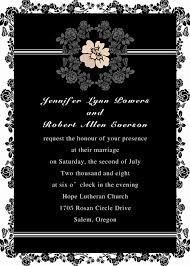 marriage invitation sle shabby chic vintage floral black and white pocket wedding