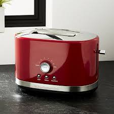 Two Slice Toaster Reviews Kitchenaid Red 2 Slice Toaster Crate And Barrel
