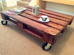 coffee table with caster wheels living room living room furniture and varnished wooden pallet