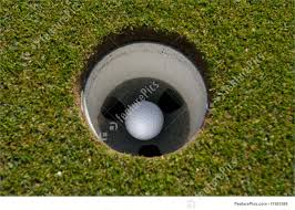 picture of golf ball in hole
