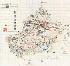 Taklamakan Desert Map 中国图片 新疆地图map Of China Map Of Xinjiang