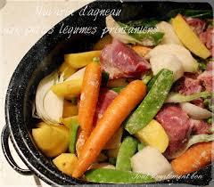 cuisiner les l馮umes sans mati鑽e grasse navarin d agneau aux petits légumes de printemps tout