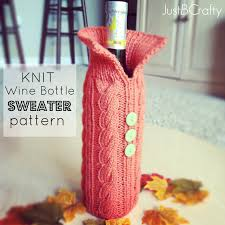 pattern for wine bottle holder knit your wine bottle a sweater just be crafty